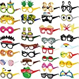 Funny Cardstock Photo Booth Props Glasses - 30 Pack Party Glasses for Adults and Kids - Fun Novelty Party...