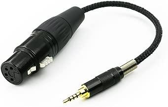 NewFantasia 2.5mm Trrs Balanced Male to 4-pin XLR Balanced Female Headphone Audio Adapter for Astell&Kern AK240 AK380 AK320 onkyo DP-X1 FIIO X5III XDP-300R