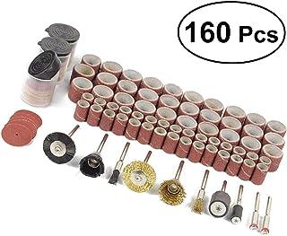 YUNB 160pcs Accesorios de Pulido abrasivo Juego de cepillos de Rueda de Alambre Ruedas de Pulido para Herramientas rotativas Dremel