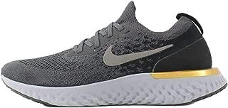 Nike Men's Epic React Flyknit Running Shoe Thunder Grey/Metallic Pewter/Black/Peat Moss 13 M US