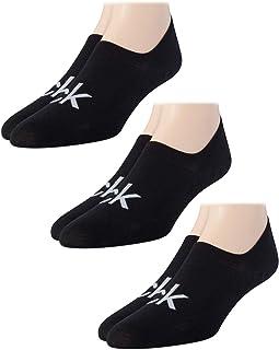 Men's 3 Pair Cotton Logo No Show Liner Socks