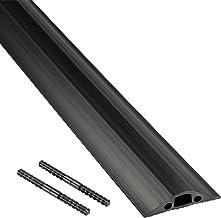 D-Line FC68B   Canaleta pasacables para suelo   68 mm x 1,8m - color negro