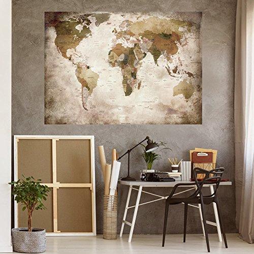 murando - VLIES POSTER WELTKARTE 140x100 cm Wandbild - Kunstdruck - Bild - Fototapete - Dekoration - Design Kontinente Landkarte