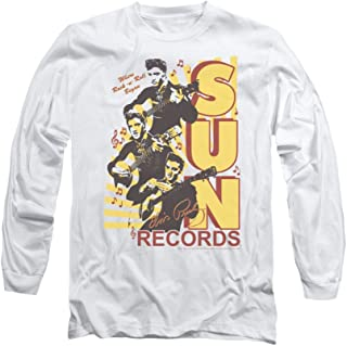 Sun Records Tri Elvis Adult Long-Sleeve T-Shirt