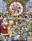 Puzzles De Madera 500/1000 Piezas para Niños Y Adultos,Toyland Navidad Puzzle En Una Caja Rompecabezas De Piso De Impresión De Alta Definición Juegos Relajantes Puzle Brain Teaser S