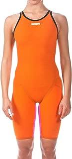 Arena Women's Powerskin Carbon Flex Vx Swim Suit-Open Back, Orange/Fuchsia, 22
