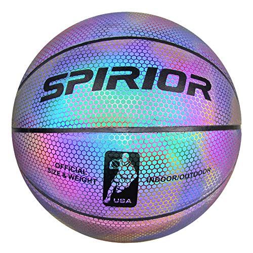 Fantastic Deal! Supshark ColorfulGlowing Reflective Basketball - Light Up Camera Flash Glow in The D...