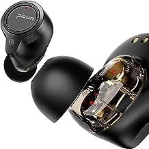 Picun X7 True Wireless Earbuds, Dual-Driver TWS Hi-Fi Stereo Bluetooth Headphones, IPX68 Waterproof Earphones with Chargin...