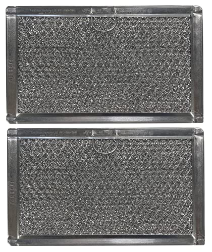 2-Pack Air Filter Factory Replacement For Kenmore Elite 80372 Microwave Oven Aluminum Grease Filter