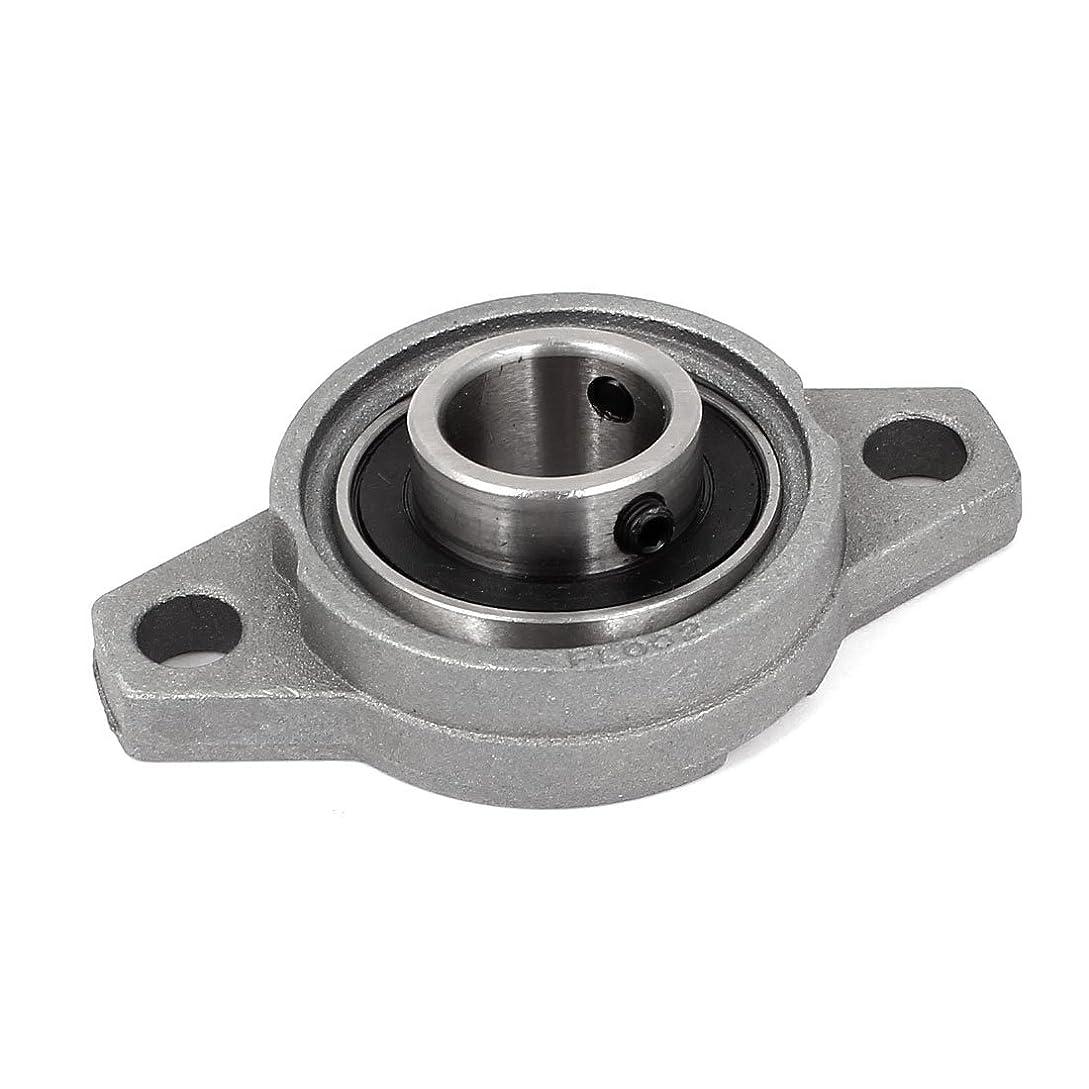 誘う貫通する制裁uxcell ベアリングユニット FL002 15mmボア直径 亜鉛合金 自動調心