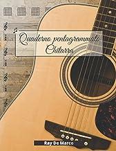 Quaderno Pentagrammato Chitarra: per musicisti, con spartiti, tablatura TAB e griglie per accordi | 110 pagine numerate ed...