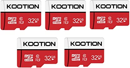 KOOTION 5 X 32 GB Micro SD Card Ultra Class 10 Micro SDHC Memory Card UHS-I High-Speed TF Card R Flash, C10, U1