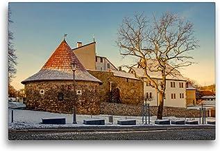 Premium textilduk 45 cm x 30 cm tvär, ett motiv från kalendern potthals i Saale-Orla-cirkeln | väggbild, bild på kil ram, ...