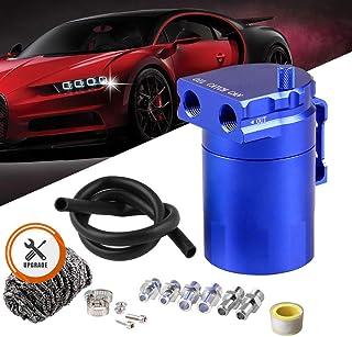 Best Ruien Universal 350ml Oil Catch Can Tank 0046 Aluminum Polish Baffled Reservoir Blue Review