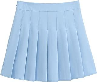 Women's Simple High Waist All Around Pleated A-Line Skirt