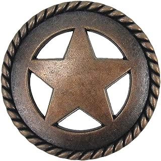 Bronze Star Kitchen Drawer Bin Pull Screw Vanity Knob Western Cabinet Hardware