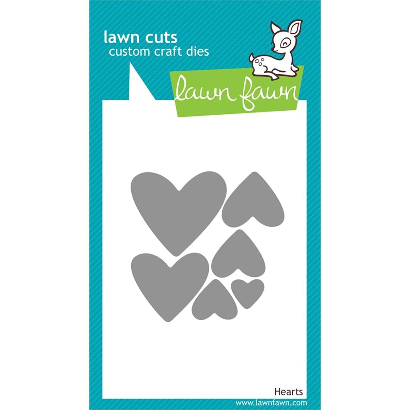 Lawn Fawn Lawn Cuts Custom Craft Dies - Hearts #LF492