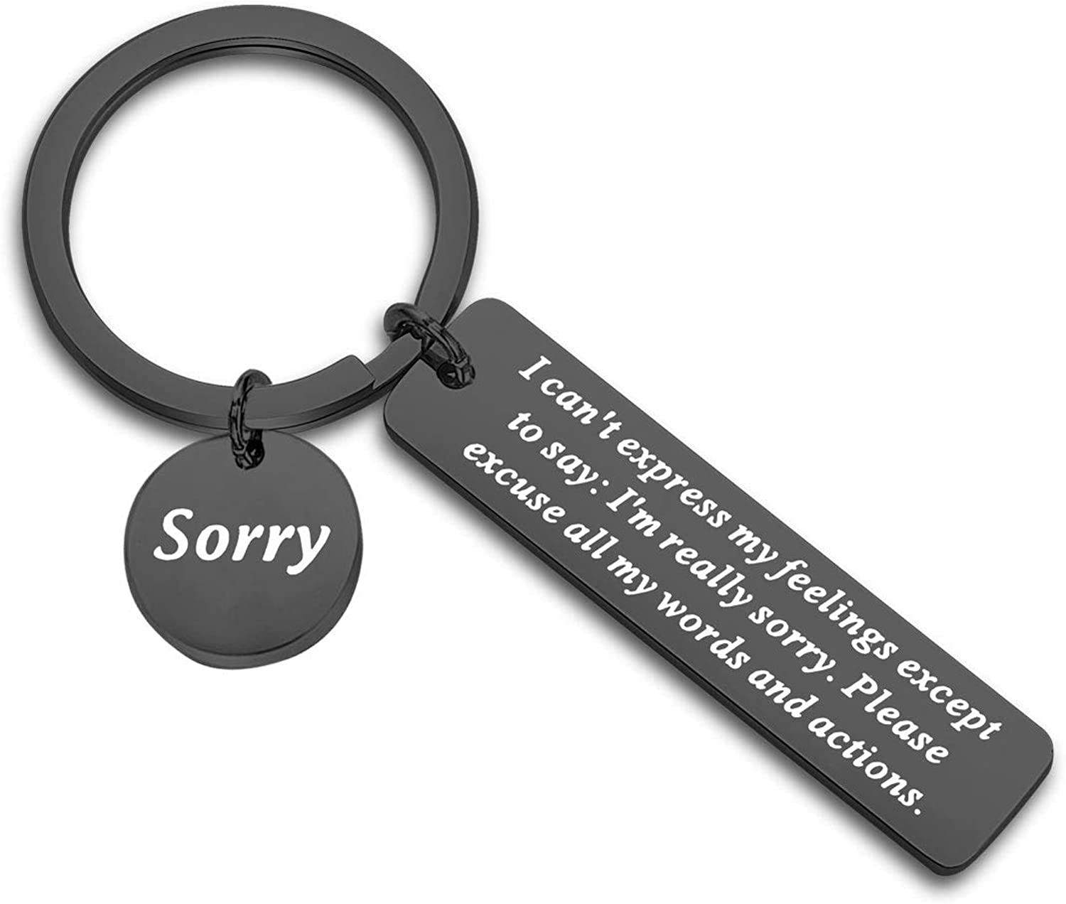 CYTING Apology Keychain Gift Im Sorry Gift Forgive Me Gift Sorry Jewelry Gift for Family Best Friends