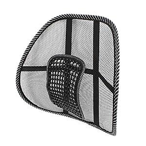 Soporte de malla lumbar para silla de oficina o asiento de coche, respaldo cómodo y transpirable para silla de oficina…