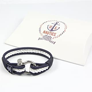 Blue Ocean Nautical Bracelets Beautiful Bracelets Made of Yachting Rope- Wide Variety of Designs&Colors-with Stainless Steel Buckle- Great Gift Idea for Men & Women