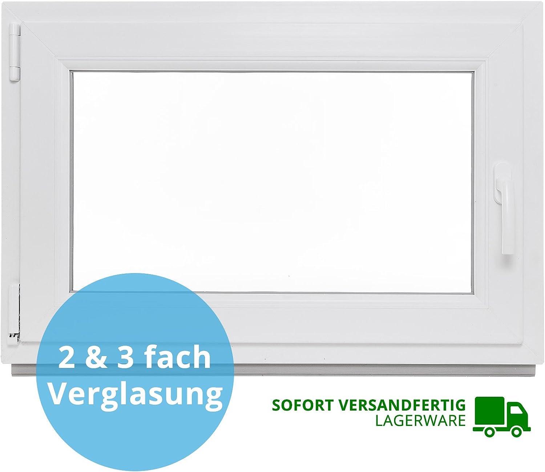 Panorama24 Kellerfenster - BxH  100x40 cm - Kunststoff - Fenster - wei - 2-fach-Verglasung - DIN links - 60mm Profil - LAGERWARE