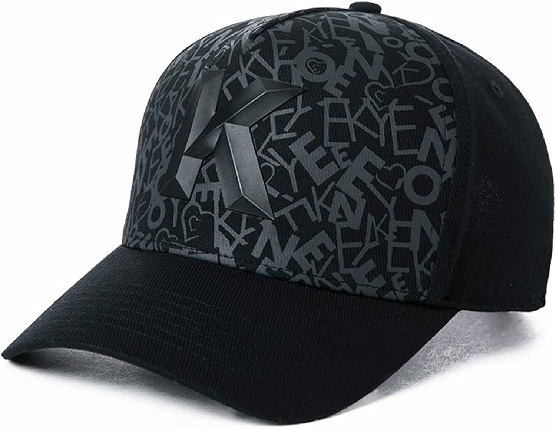 Letter K Baseball Cap Women's Summer Outdoor Travel Sunscreen Sun Hat Casual Street Joker Hat (color   Black)