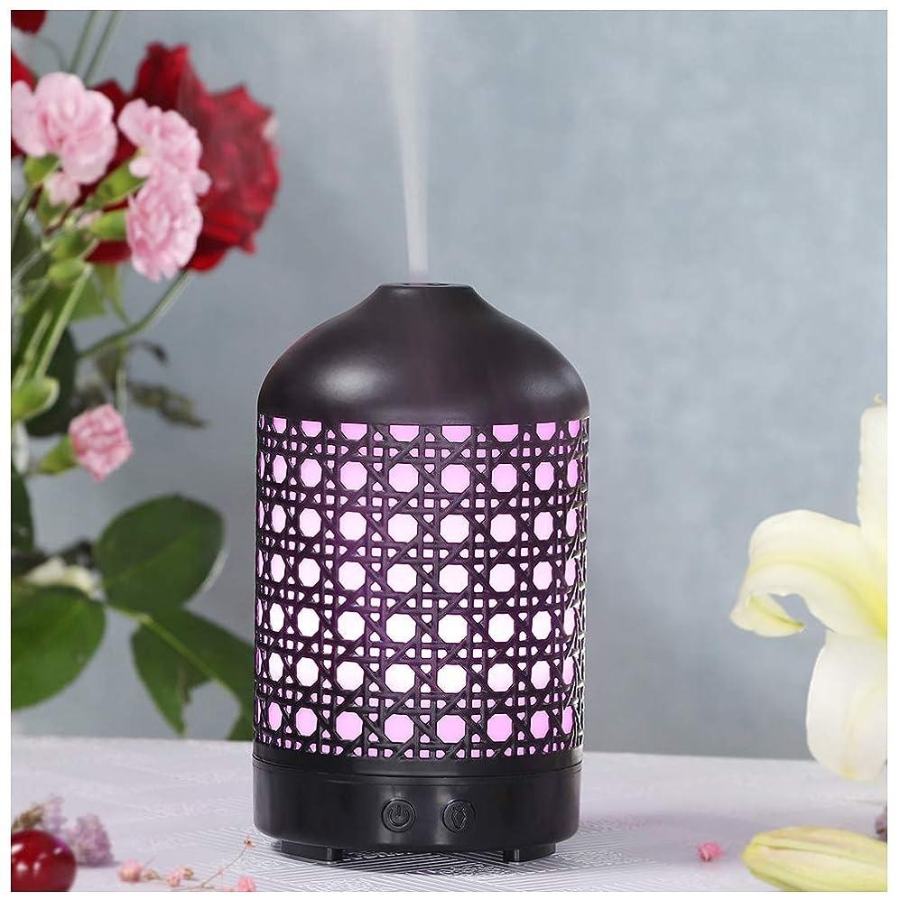 紫のサーカス密輸エッセンシャルオイルディフューザー、超音波アロマセラピーコールドフォグアロマテラピーエッセンシャルオイルディフューザ,7色変更LEDライト、ホームオ