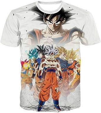 Fittrame - Camiseta de Manga Corta con diseño de Dragon Ball para Hombre y niño