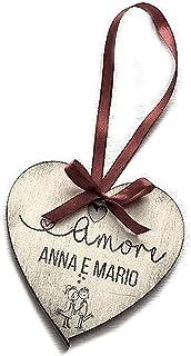 San Valentino - Cuore in legno personalizzato - Idea regalo