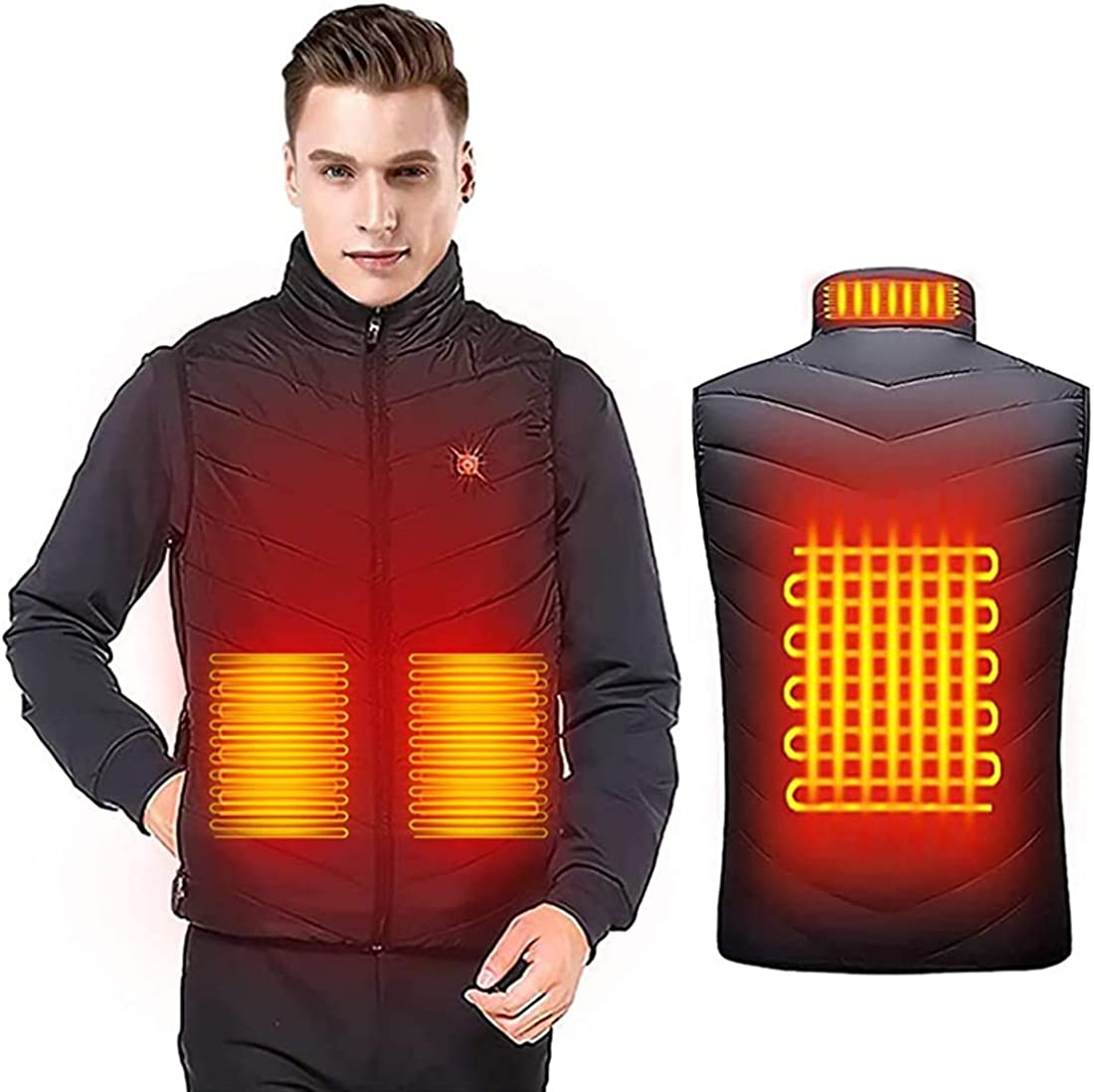 Dacgua Heated Vest for Men Women - USB Rechargeable Unisex Washable Heating Jacket Gilet (No Battery)