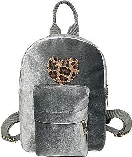 Kwok Women Fashion Trend Simple Literature College Solid Color Corduroy Backpack Student Backpack Leisure Bag Travel Bag Earphone Bag