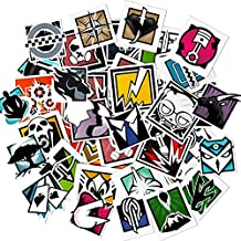 56 PCS Game Rainbow Six Siege R6 R6s Operators Stickers for Laptop Stickers Motorcycle Bicycle Skateboard Luggage Decal Graffiti Patches Stickers for No-Duplicate Sticker Pack
