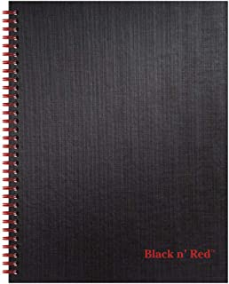 """Black n' Red Notebook, Twin Wire, Hardcover, 11"""" x 8-1/2"""", Large, 70 Ruled Sheets, 1 Count (K67030)"""
