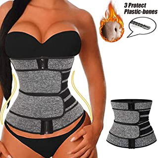 Women's Waist Trainer Weight Loss Corset Trimmer Belt Waist Cincher Sports Girdle for Pilates Aerobics Yoga,4XL