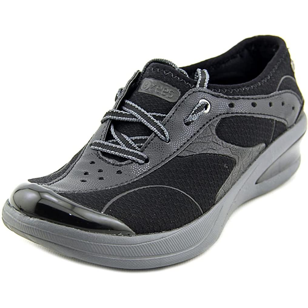 発生特徴づける観客BZees Womens FLAME Low Top Lace Up Running Sneaker, Black, Size 6