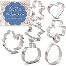 Ann Clark Cookie Cutters 7-Piece Cookie Cutters for Every Season Set with Recipe Booklet, Gingerbread Man, Turkey, Pumpkin...
