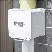 Cat Proof Overdekte toiletrolhouder, Camper RV toiletrolhouder, Wall Mounted Tissue Dispenser (Color : White)