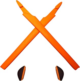 HKUCO Plus Orange Replacement Silicone Leg Set For Oakley Crosslink Sunglasses Earsocks Rubber Kit