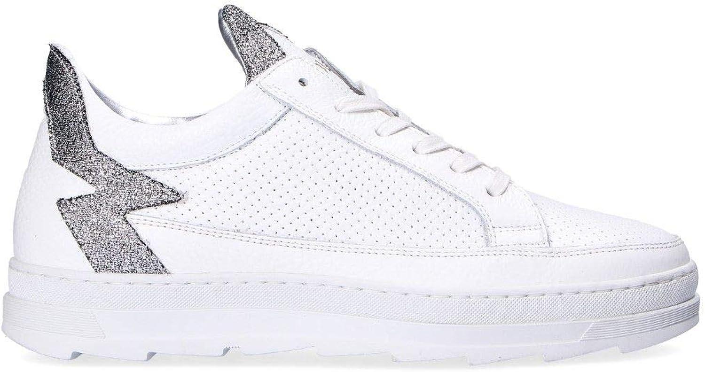 MOHAI Women's KEROL5 White Leather Sneakers