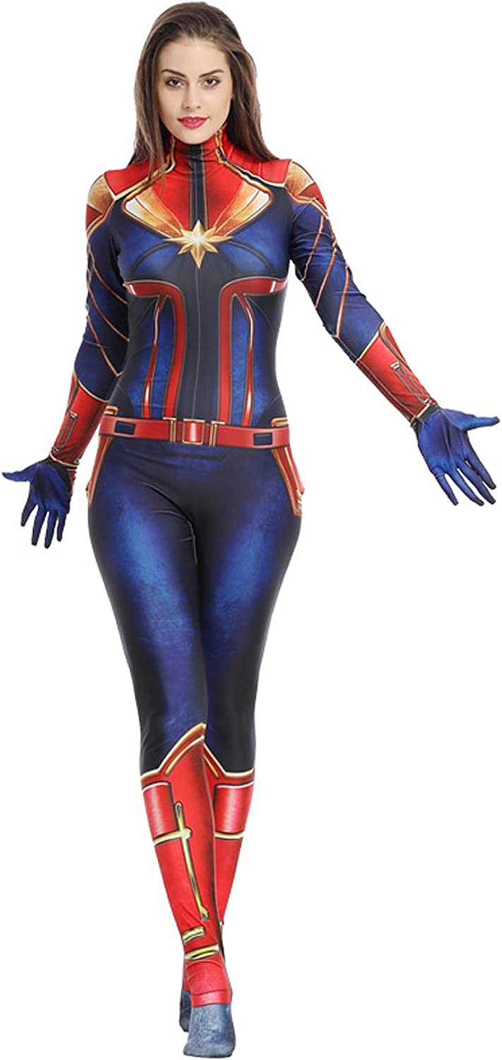 Amazon Com Captain Carol Danvers Cosplay Jumpsuits Carol Danvers Costume Suit Full Set For Women Clothing We were entirely replacing her costume with a cg one in the begining of the film. captain carol danvers cosplay jumpsuits carol danvers costume suit full set for women