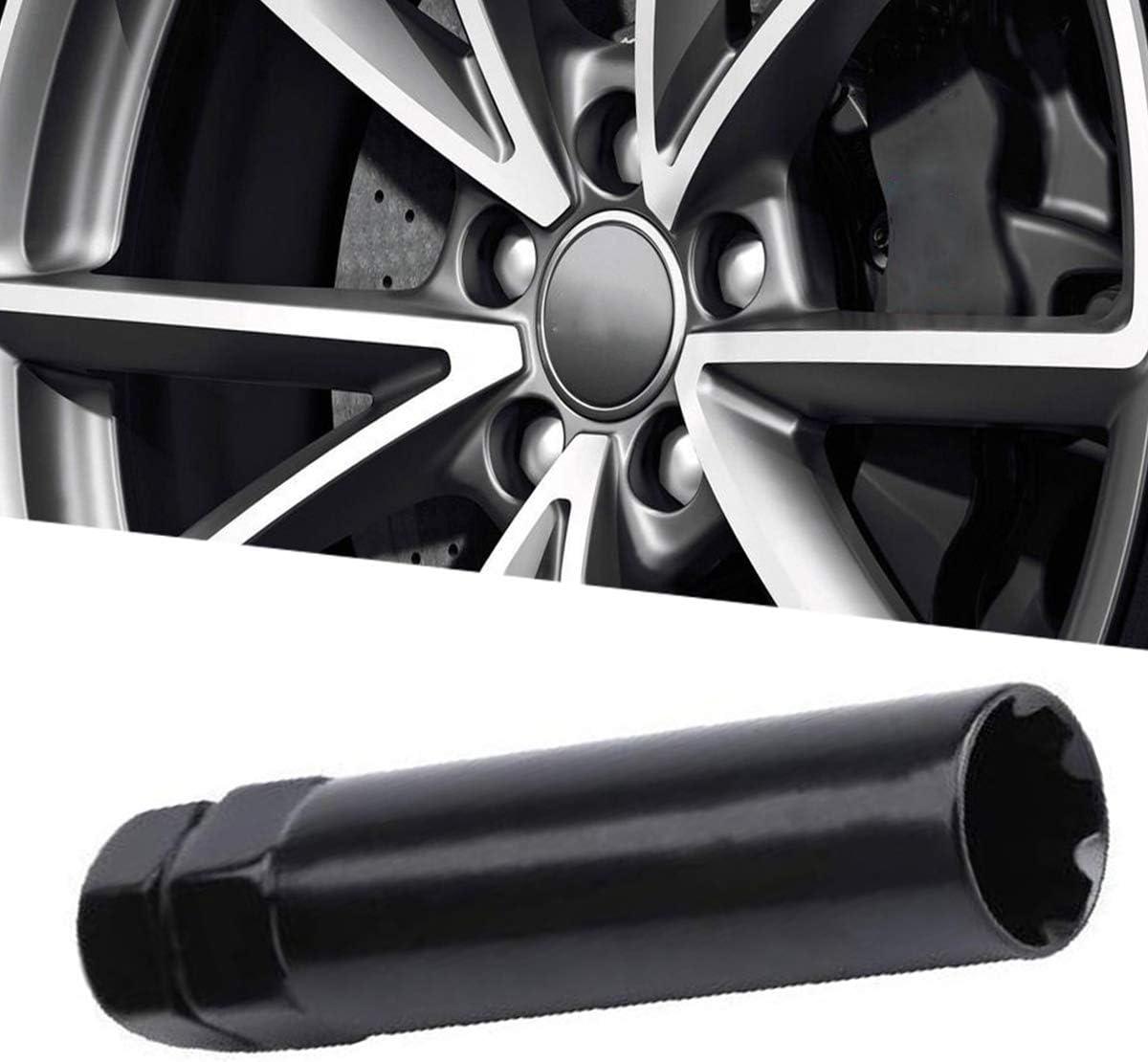 Muhize Standard Drive Socket Lug Nut Tool Key Replacement 7 Point Spline Tuner Lug Nut Key