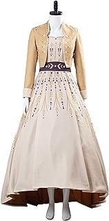 CHENJUNAMZ Reina Princesa Cosplay Anna Vestido Cosplay Traje Adulto Mujeres Vestidos Largos Vestidos de Carnaval Disfraces...