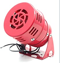Mecion AC 110V Loud 114dB Red Industrial Motor Mini Car Siren Horn Alarm