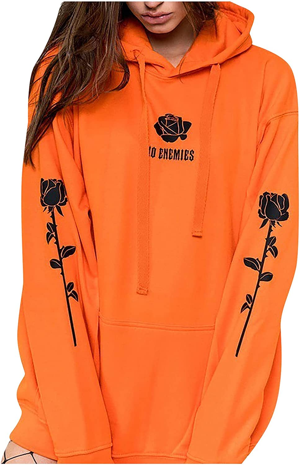 Bravetoshop Women Hoodies Casual Long cheap Albuquerque Mall Loose Sleeve Pullover Tops
