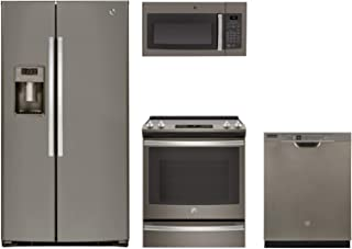 GE 4-Piece Kitchen Package with GSE25HMHES 36