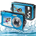 Underwater Camera, Waterproof Camera Full HD 2.7K 48MP Waterproof Camera Digital with Dual Screen, 16X Digital Zoom and Self-Timer by S & P Safe and Perfect