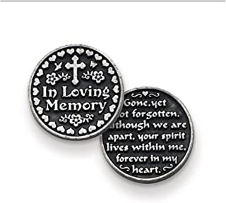 THREE (3) IN LOVING MEMORY - Pewter POCKET Tokens GONE Yet Not Forgotten... - For DECEASED Memorium - Sympathy 1