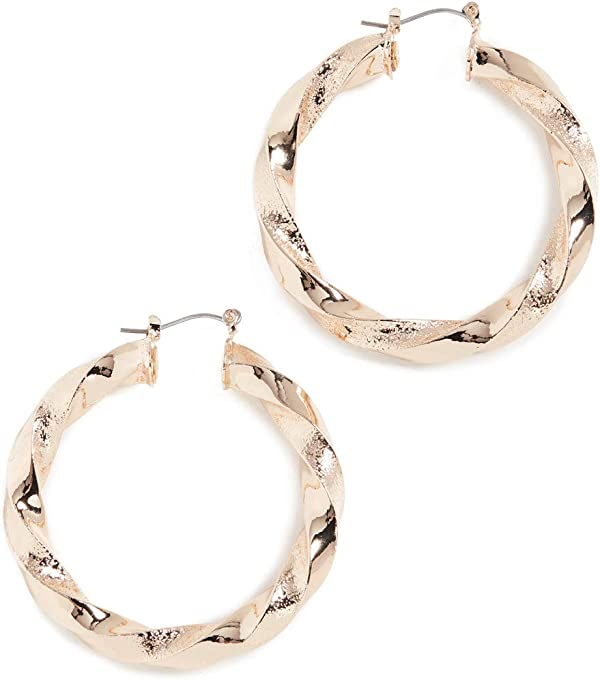 Kenneth Jay Lane Women's Polished Gold Twisted Earrings