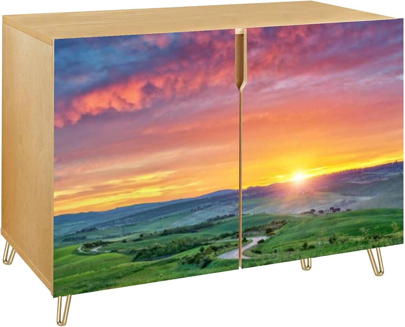 Colorful Tuscany Sunrise Sales Wooden San Antonio Mall Door Doors Cabinet Stor Accent 2