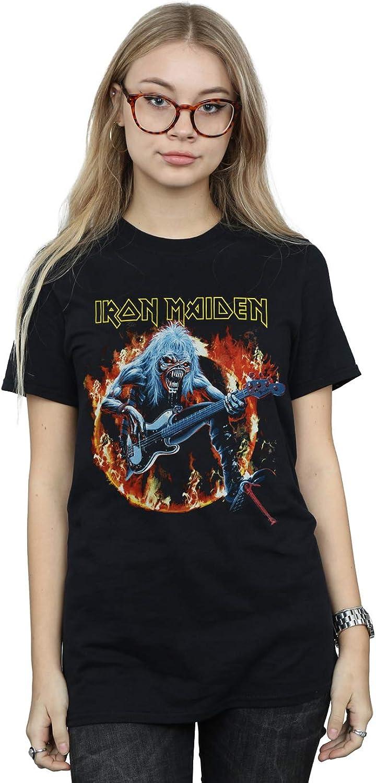 Absolute Cult Iron Maiden Women's Fear Live Flames Boyfriend Fit TShirt